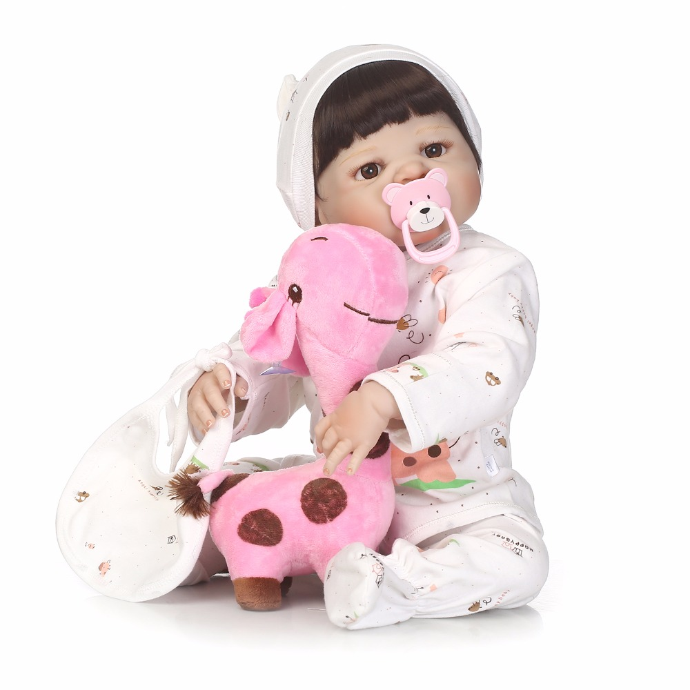 Image 3 - NPK 56cm full body Silicone reborn Baby Doll Girl Newbron Lifelike Bebes Reborn toys playmates for kids with sleeping bag-in Dolls from Toys & Hobbies