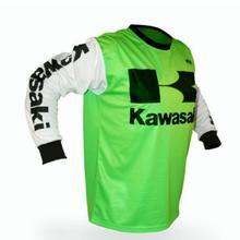Kawasaki New Jersey Влагоотводящая дышащая Спортивная футболка для бездорожья, мотогонок