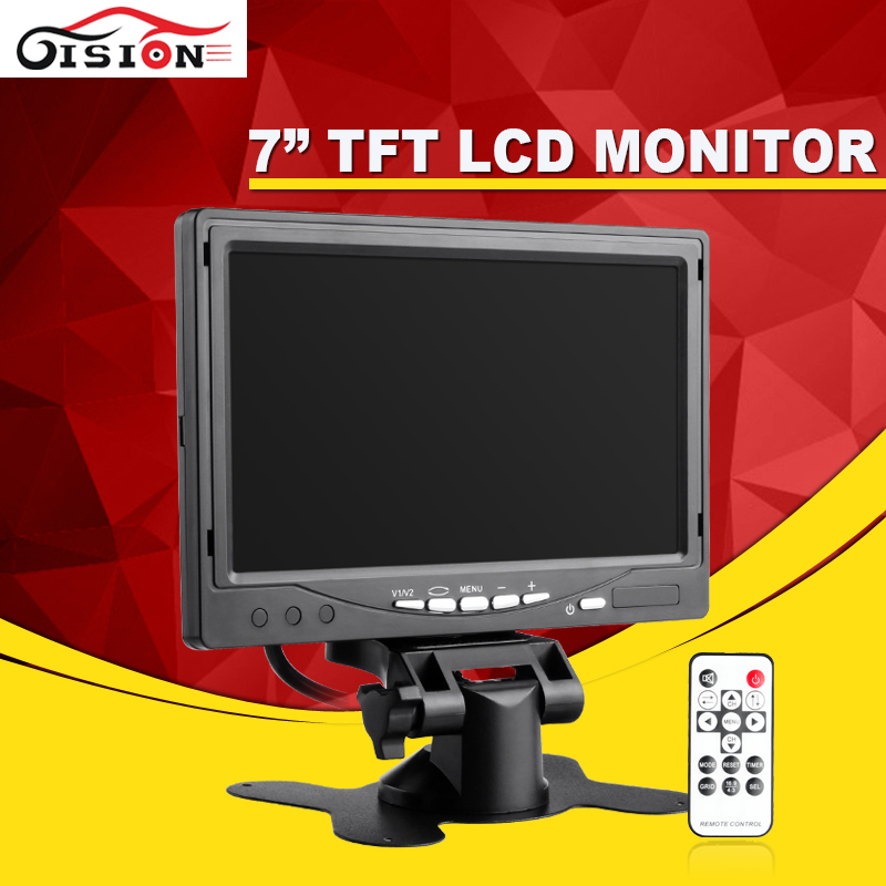 7 TFT LCD Car Rear View Parking Monitor Foldable Auto Rearview Backup Monitors 2 Video Input for Reverse Camera DVD/DVR/GPS rearview parking reversing cam auto vehicle rear view backup car reverse camera for vw volkswagen golf jetta passat polo touar