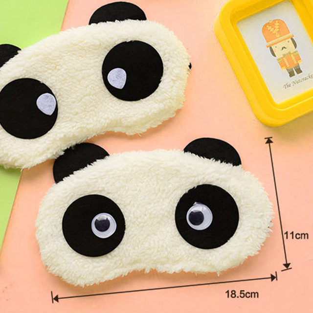 Hot Comfortable Korean Style Soft lovely Cartoon Pure Cotton sleep Eye Shade Cute Animal shading Ice Portable Hot Panda Eye Mask 2