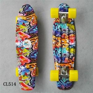 Image 5 - Colorido 22 Polegada completo placa de banana Com Cor misturada padrão para a Menina e menino para Desfrutar do skate Mini foguete placa