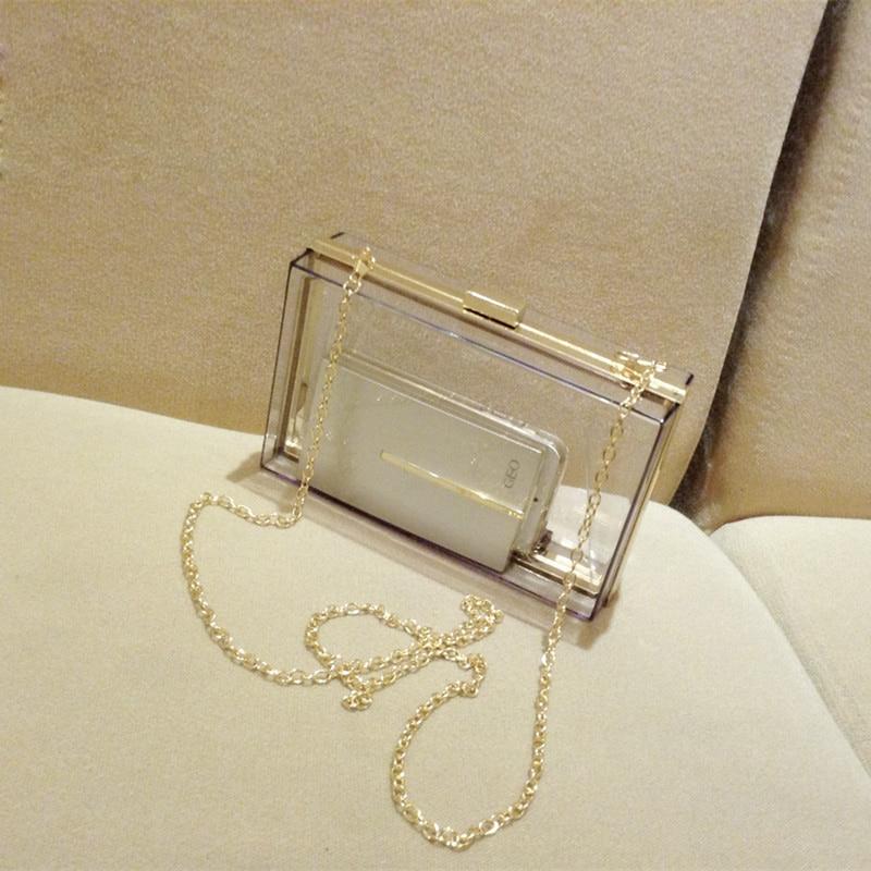 여자 투명 레이스 아크릴 Perspex 클러치 지우기 지갑 저녁 가방 핸드백
