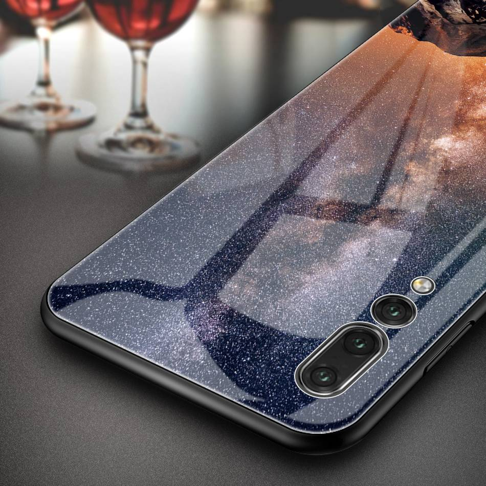 UTOPER Star Space Tempered Glass Case For Huawei