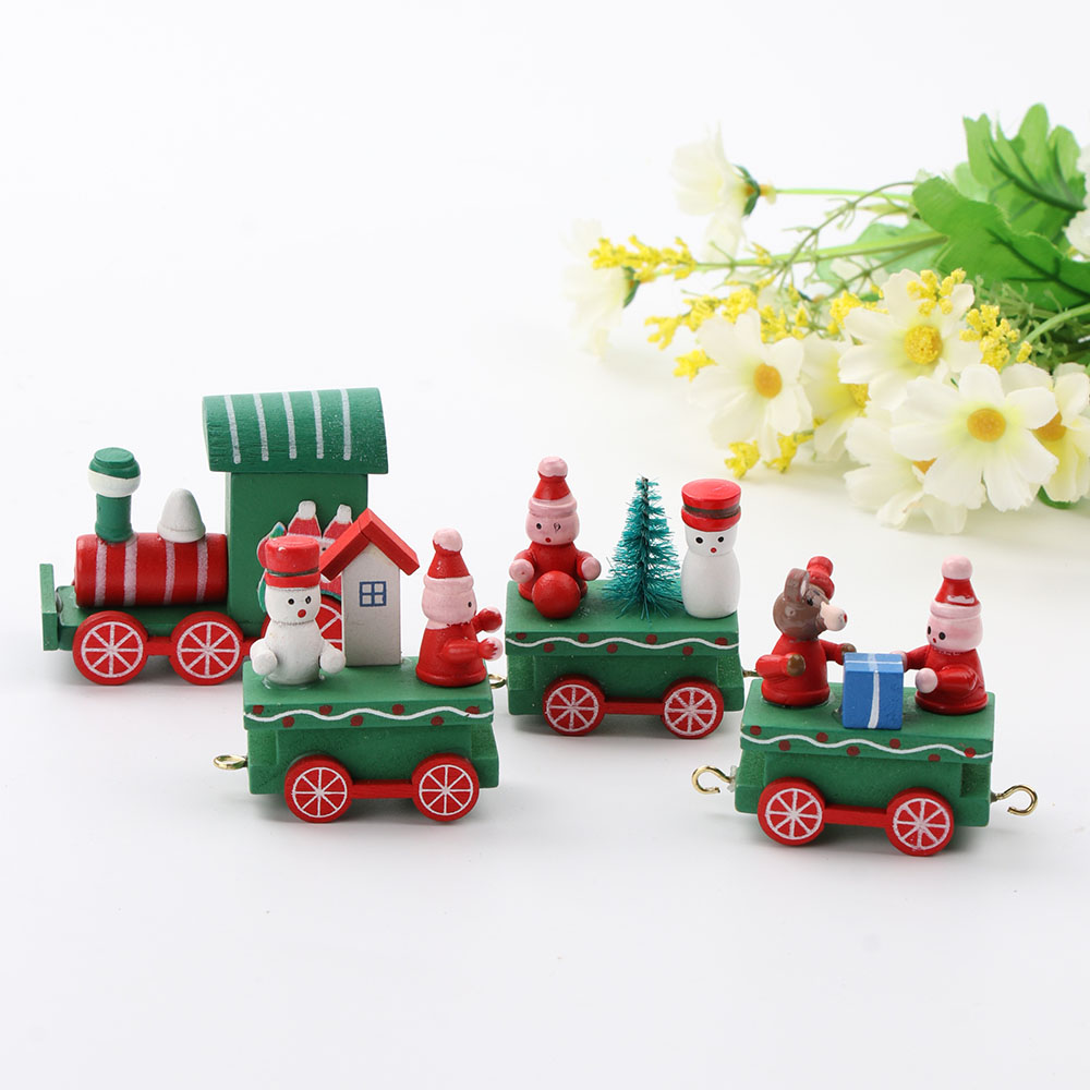 Pcs set small train christmas decorations for home little