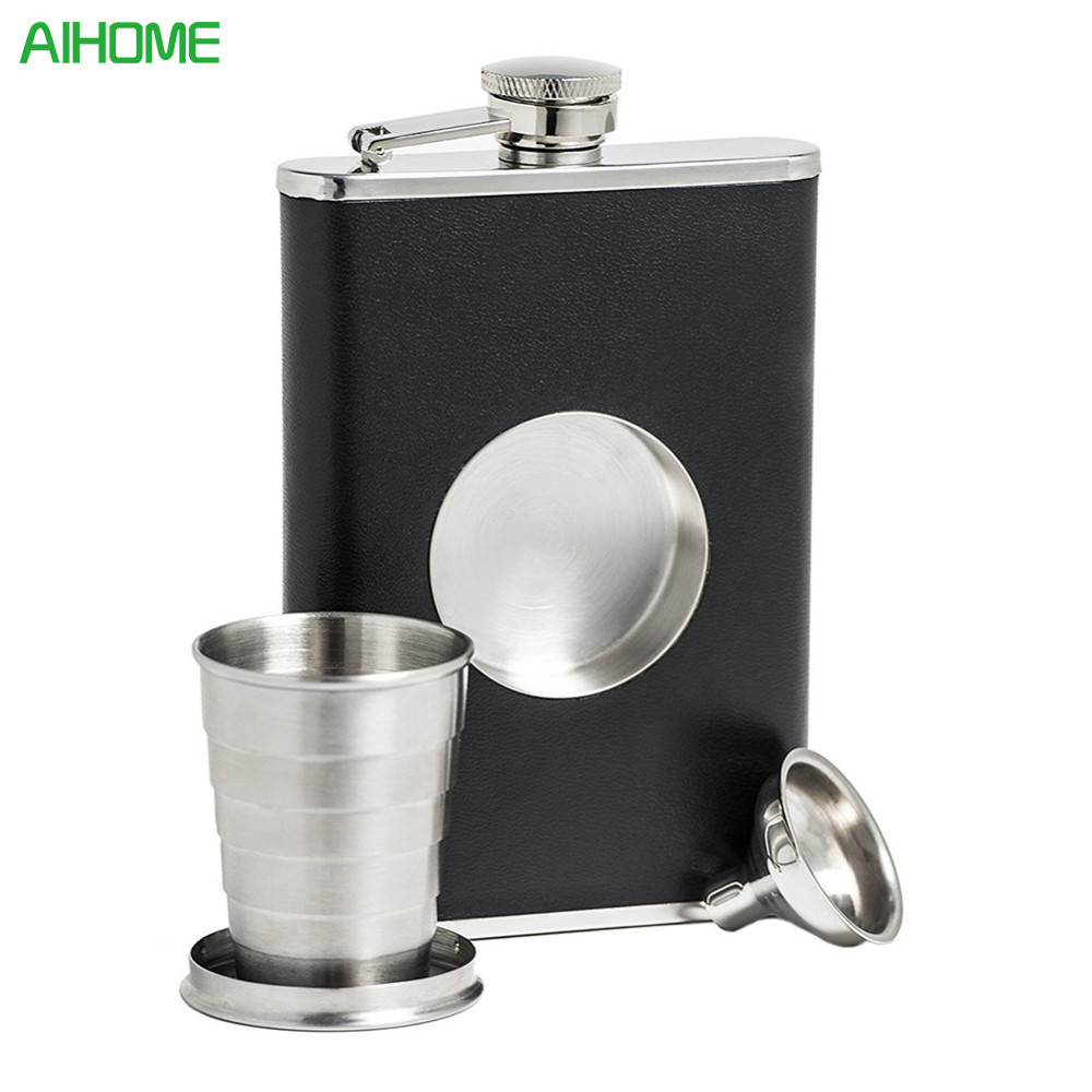 Utensilios de bar Galaxy Cat Bottle Portable 304 Stainless Steel Hip Flask Leak Proof Liquor Pocket Flagon Bottle Alcohol New3