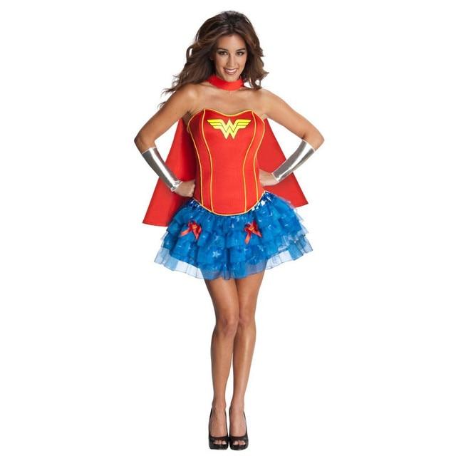 Wonder Woman Costume Adult Superhero Cosplay Dc Comics Superman