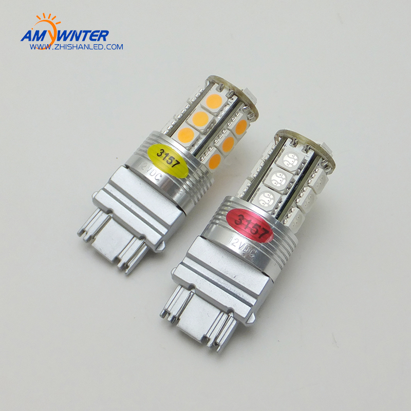 Velika snaga P27 / 7W 3157 LED dvostruka svjetlosna funkcija LED - Svjetla automobila - Foto 2