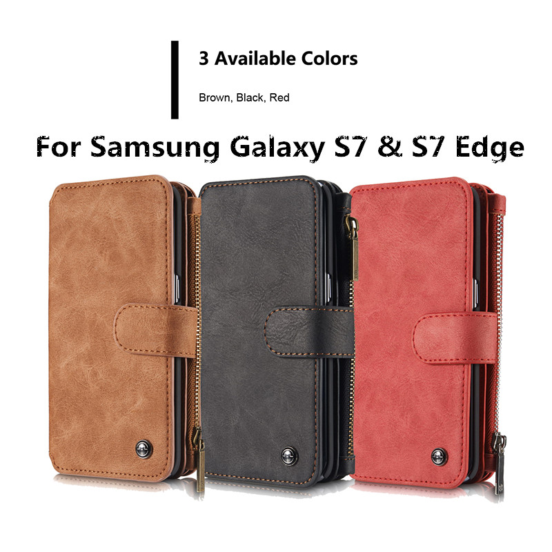 sPara Samsung Galaxy S7 Edge Funda de cuero artesanal Funda - Accesorios y repuestos para celulares