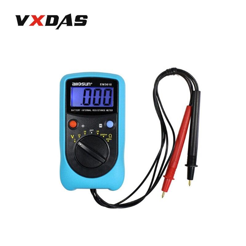 Prix pour Tous-Soleil EM3610 Batterie Résistance Interne Testeur/voltmètre/portable Batterie Testeur interlligent instrument
