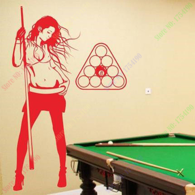 Free Shipping Pub Bar Vinyl Decal Hot Sexy Girl Wall Stickers ...