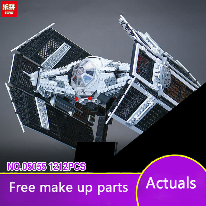 Lepin 05055 Star 1212 pieces The Rogue One USC Vader TIE Advanced Fighter Set 10175 Building Blocks Bricks Educational War LP046 lepin 05055 star 1212pcs the rogue one usc vader tie advanced fighter set 10175 building blocks bricks educational war