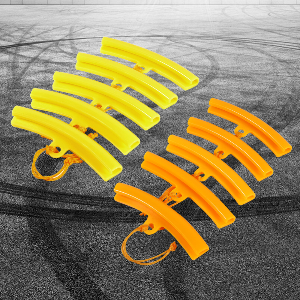 5PCS/set Car Tire Changer Rim Protector Guard Rim Protector Tyre Wheel Changing Edge Savers Tool Orange/Yellow