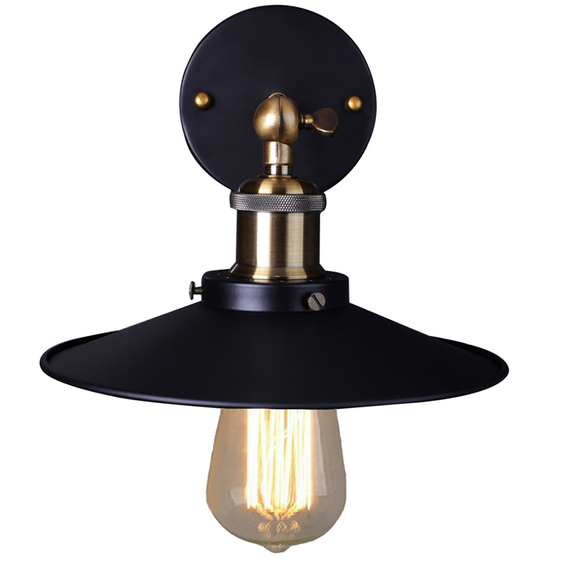 Vintage Mur Lampe Loft Lumi re Applique Luminaire Noir Abajur Luminaria Pour Chambre Salon clairage Industriel Résultat Supérieur 15 Bon Marché Luminaire Noir Stock 2017 Hdj5
