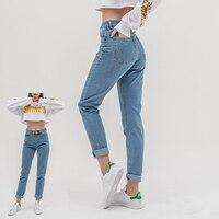 Luckinyoyo Жан женщина mom jeans Штаны Джинсы бойфренда для женщин с высокой талией push up Большие размеры женские джинсы 5xl 2019