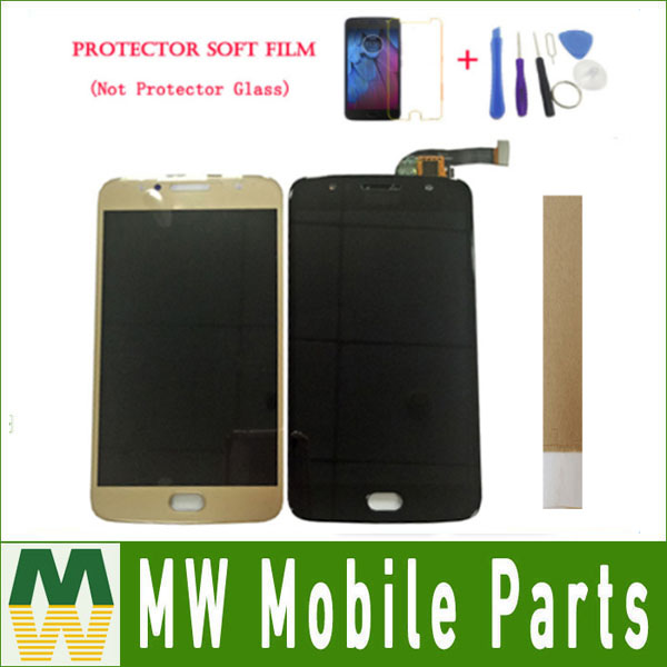 For Motorola <font><b>XT1792</b></font> XT1793 XT1794 Moto G5S <font><b>LCD</b></font> Display+Touch Screen Digitizer Sensor Black Gold With Kit image