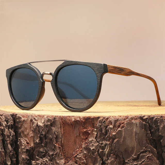 eea003a8e9c Vintage Acetate Wood Sunglasses For Men Women