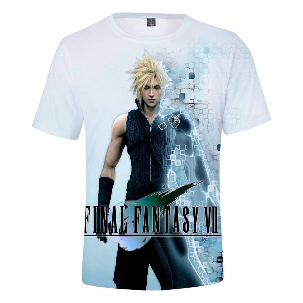 Sephiroth Final fantasy 7 Gamer Fan adults T shirts Black The Man In The Cape