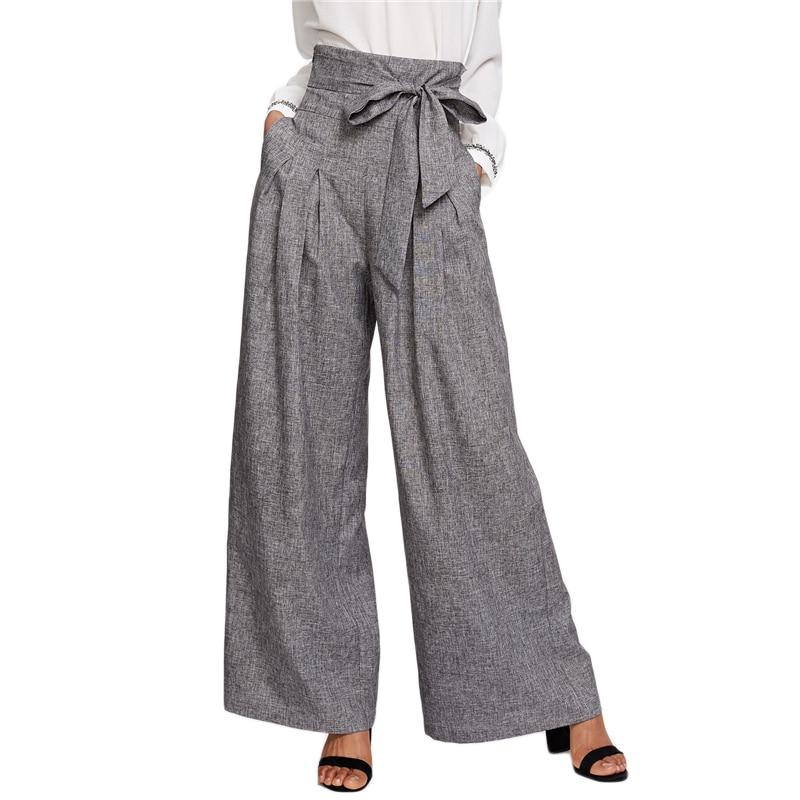 Wide Leg Pants Zipper Fly