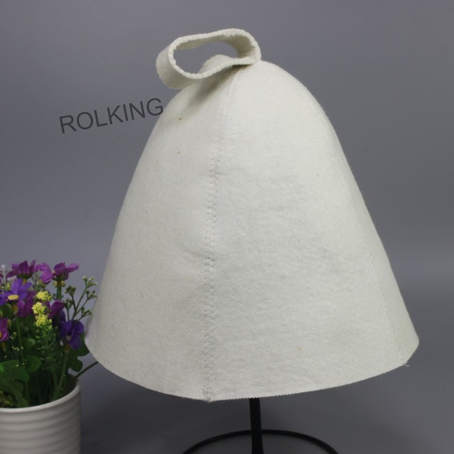 beautiful embroidery felt hat for Infrared Sauna(1PCS/packing)  head circumference size 70cm