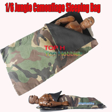 1/6 Scale Doll Accessories Outdoor Jungle Camouflage Sleeping Bag For 12″ Figure
