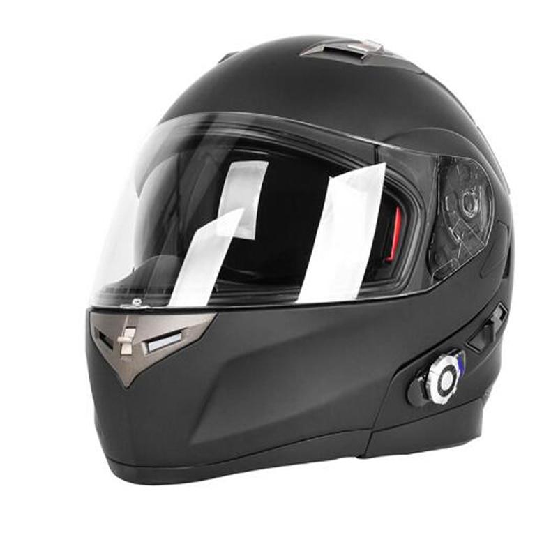 Dot Bluetooth Intercom Headset Integrovaný modulární Full Face motocyklová helma Sun Shield GPS FM
