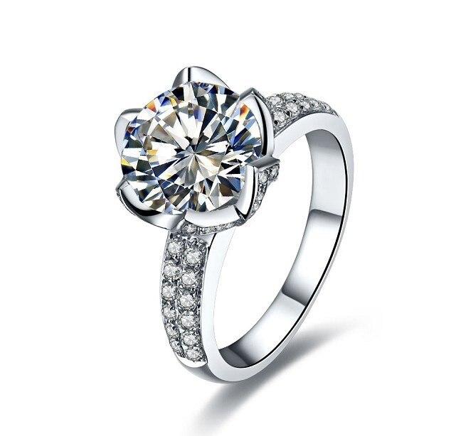 Royal Design Lotus Shape 3 Carat Sona Synthetic Diamonds