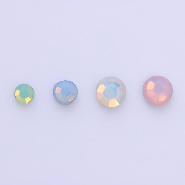 Colorful Opal 3D Nail Rhinestones Flat Bottom