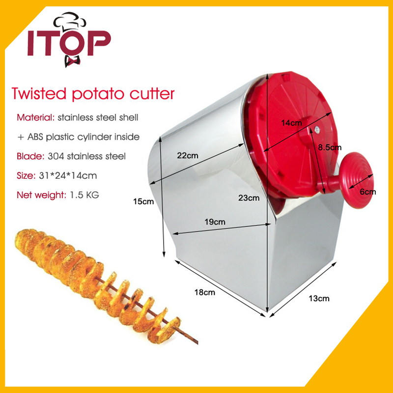 3 in 1 Stainless Steel Manual Twisted Potato Cutter High Quality Spiral Potato Slicer  Vegetable Cutter руководство twisted картофеля фри из нержавеющей стали slicer овощей