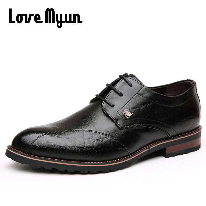 New arrive mens soft leather Fashion shoes men's dress shoes Business Oxfords lace up Pointed toe Bullock shoes size 37-44 AA-06 qffaz new fashion mens formal dress shoes pointed toe genuine leather bullock oxfords shoes lace up designer luxury men shoes