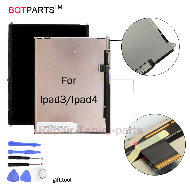BQT Replacement for Apple iPad3 ipad4 Lcd screen display for Apple Tablet LCD Display digitizer 100% Tested