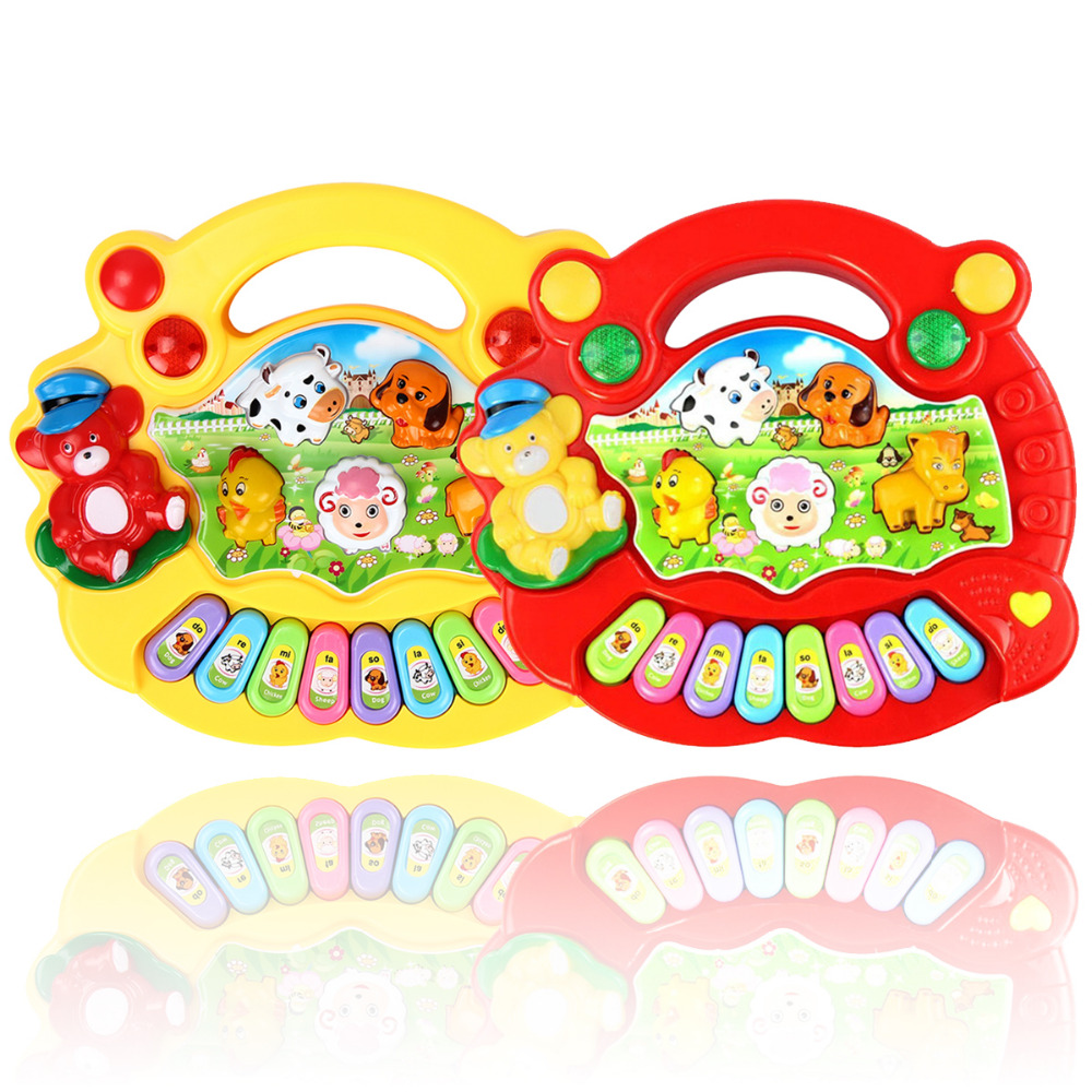 Baby Kids Smart Animal Farm Mobile Electric Piano Smart Music Toy Chinese Early Educational Sounding Toys for Children Gift