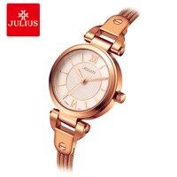 JULIUS Women Watches Designers Brass Bracelet Copper Case Ladies Rose Gold Watches Famous Watch Style Vintage