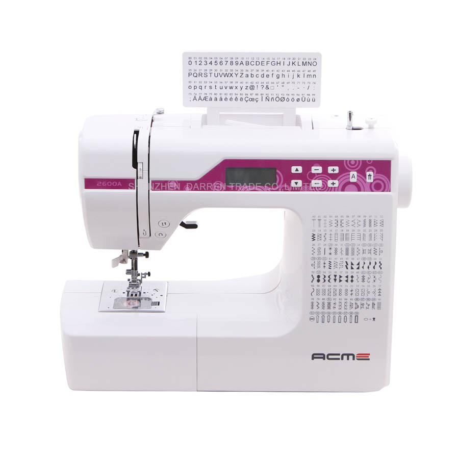 ∞Household MultiFunction Sewing MachineWith Different 40 New How To Embroider Letters With Sewing Machine