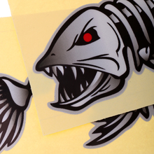 Skeleton Fish Bones Decal Sticker Car Window Decoration Pack of 2 Waterproof Self Adhesive Boat Stickers