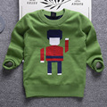 2016 children's sweater thicker autumn and winter fashion brand boy sweater pullover sweater cartoon jacquard fine wool sweater
