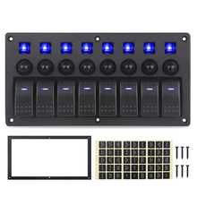 USB araba şarjı voltmetre 3 4 6 8 Gang Rocker Panel anahtarı 12v devre kesiciler araba kamyon tekne Led anahtarı paneli otomatik
