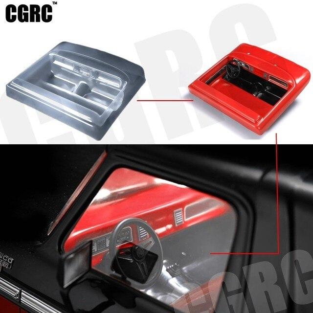 Simulado interior transparente cockpit para 1/10 rc rastreador carro trx4 bronco ranger