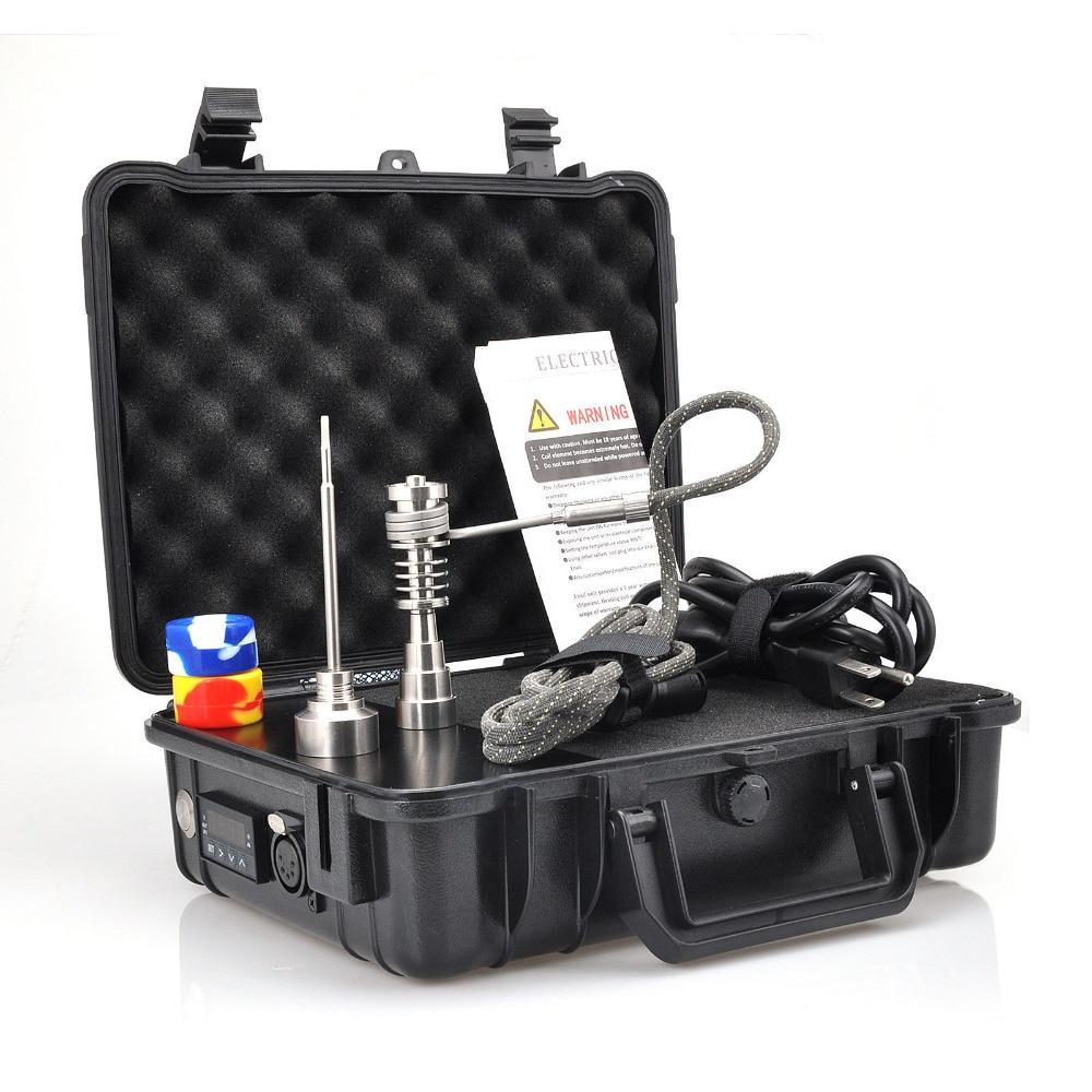 Boîtier étanche électrique titane clou Enail e-nail baril bobine 16 20 MM FPTX, noir ou Orange Dab boîte à ongles ensemble