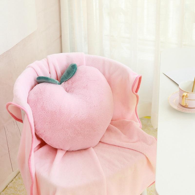 40cm Creative Simulation Fruit Plush Toy Stuffed Peach Cushion Super Soft Peaches Pillow Lovely Gift For Girl Kids