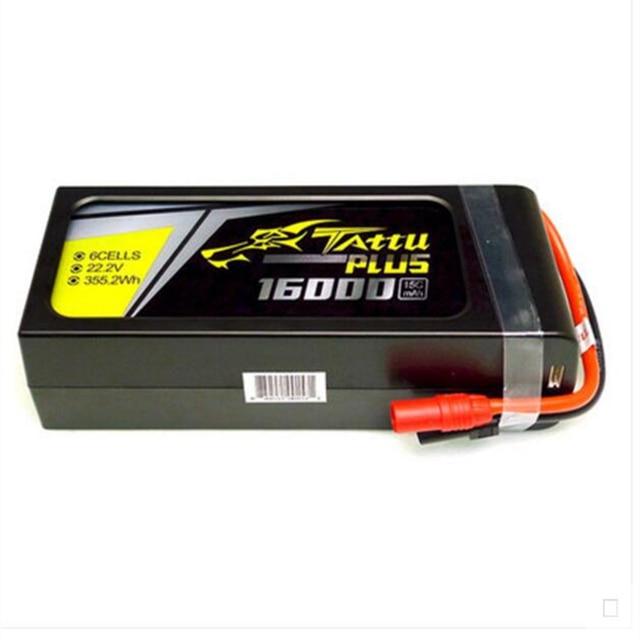 Tattu 16000 mAh 6 S 15C 22,2 V Lipo Plus/22000 mah 6 22,2 v 25c Lipo Plus paquete de batería AS150 + enchufe XT150 para Dron agrícola