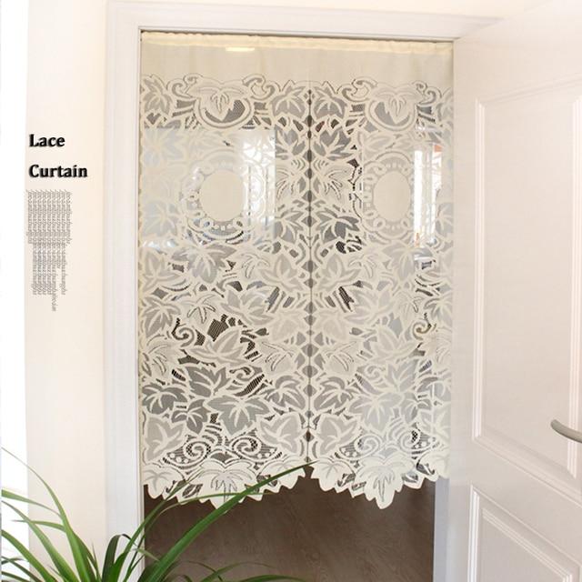 85x150cm Lace Curtains Gauze Drawstring Short Curtain For Living Room Kitchen Cabinet Door Leaf Parion