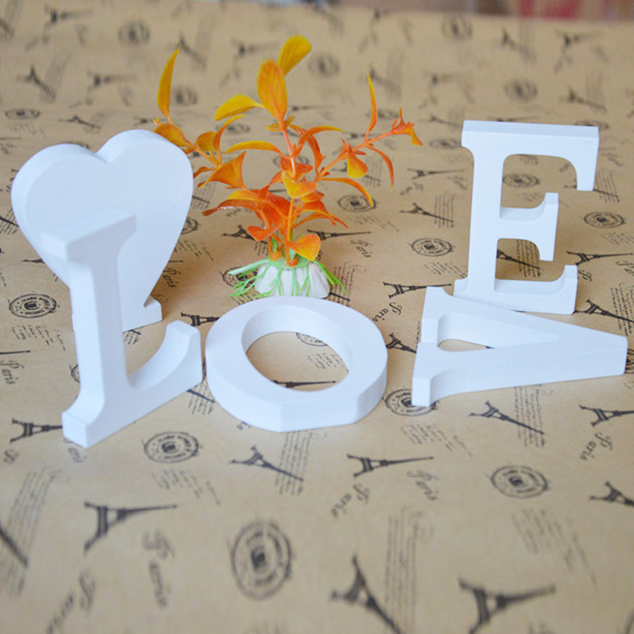 White wooden letters numbers craft english alphabet for Wooden letters for crafts