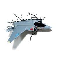 Creatieve 3D FX Gevechtsvliegtuig Modellering Wandlamp LED Nachtlampje Woonkamer Slaapkamer Decor Kids Geschenken Gratis verzending