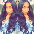180% Thick Density Lace Wig Brazilian Human Hair Lace Front Wigs With Baby Hair Free Part 24Inch Natural Color Accept Custom