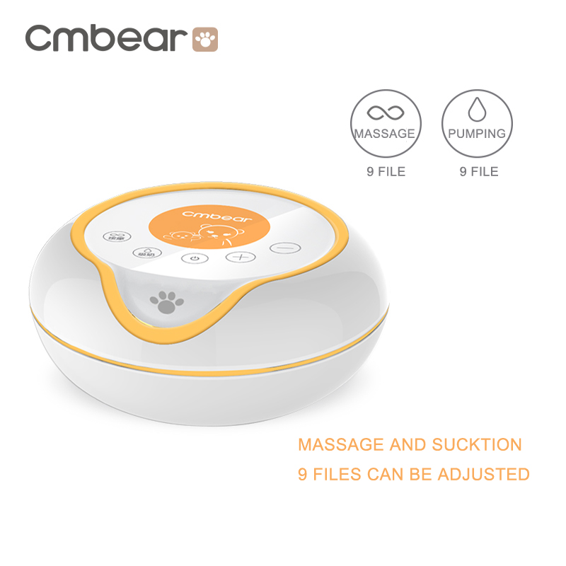 USB Rechargeable Electric Breast Pump with Large and Powerful Suction and Automatic Massager 3