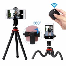 Phone Flexible Tripod with Bluetooth Shutter Remote Portrait Landscape Mount Adapter Livestream Video For iPhone X