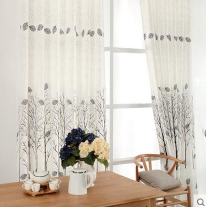 hoge kwaliteit bamboe gedrukte gordijnen en vitrage woonkamer studeerkamer semi lichte schaduw blackout op maat gordijnen