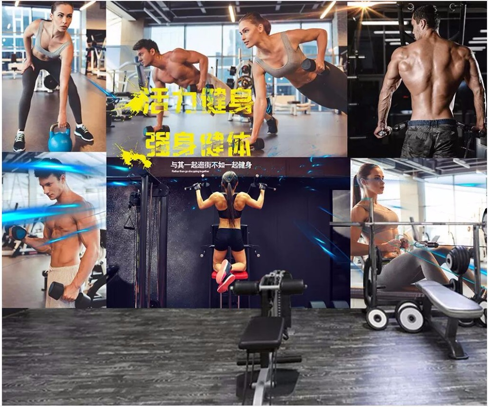 custom photo <font><b>3d</b></font> <font><b>wall</b></font> <font><b>paper</b></font> for living room National Fitness Sports <font><b>sexy</b></font> beauty gym <font><b>3d</b></font> <font><b>wall</b></font> murals wallpaper for <font><b>walls</b></font> 3 d image