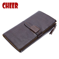 2017 New Retro Genuine Leather Men Bag Men Wallet The First Layer Of Leather Coin Purse