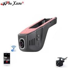Whexune novatek 96658 wifi carro dvr traço cam completo hd 1080p lente dupla visão noturna gravador de condução gravação vídeo câmera traço